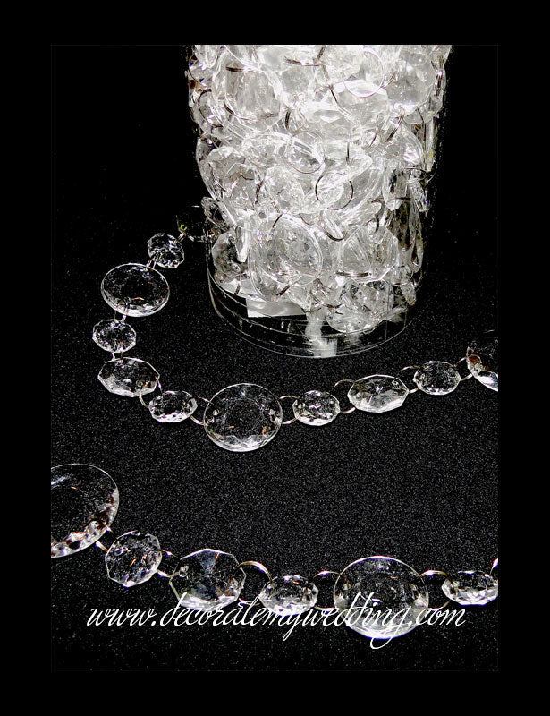 A close up look at the plastic cylinder container used to package the crystal beads.