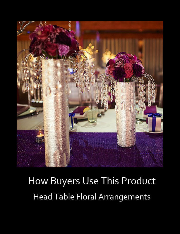 HOW TO USE – Head Table Floral Arrangements