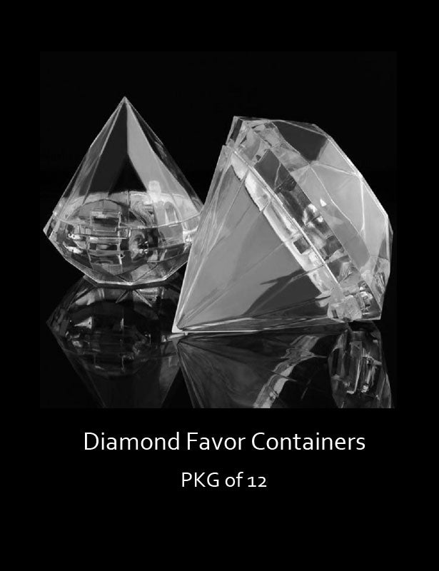 Diamond favor container dimensions.