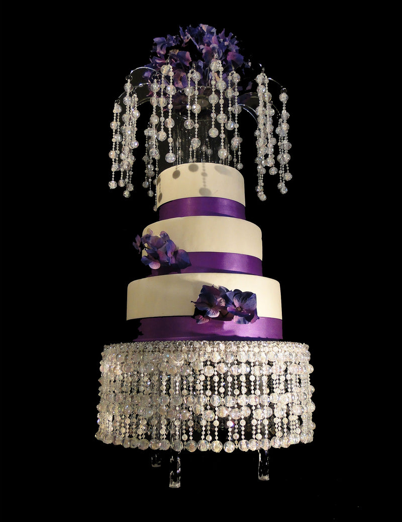 Cake Stand & Matching Cake Topper LILY Disco Beads 14""