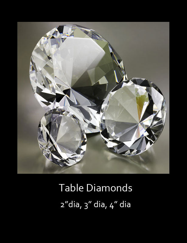 Trio of table diamonds.