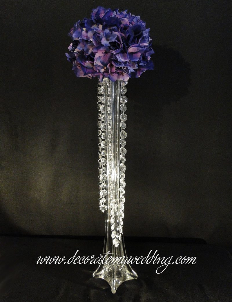 Centerpiece Embellishment - Metal Gadget w/Hooks & Hanging Beads