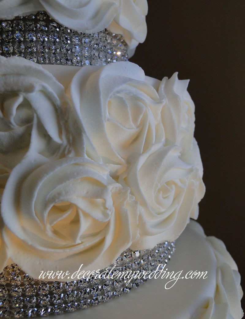 Our rosettes are a very popular faux wedding cake design.