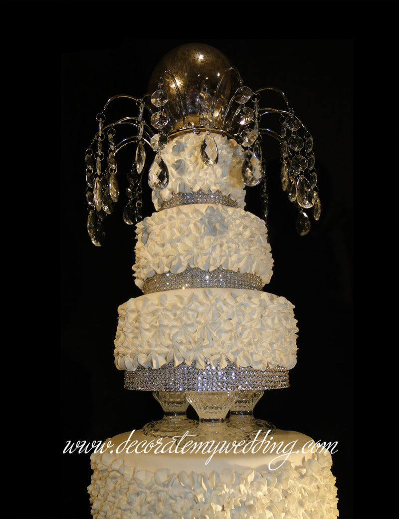 Add a Lauren Cake Topper and mercury globe for a complete look from top to bottom.