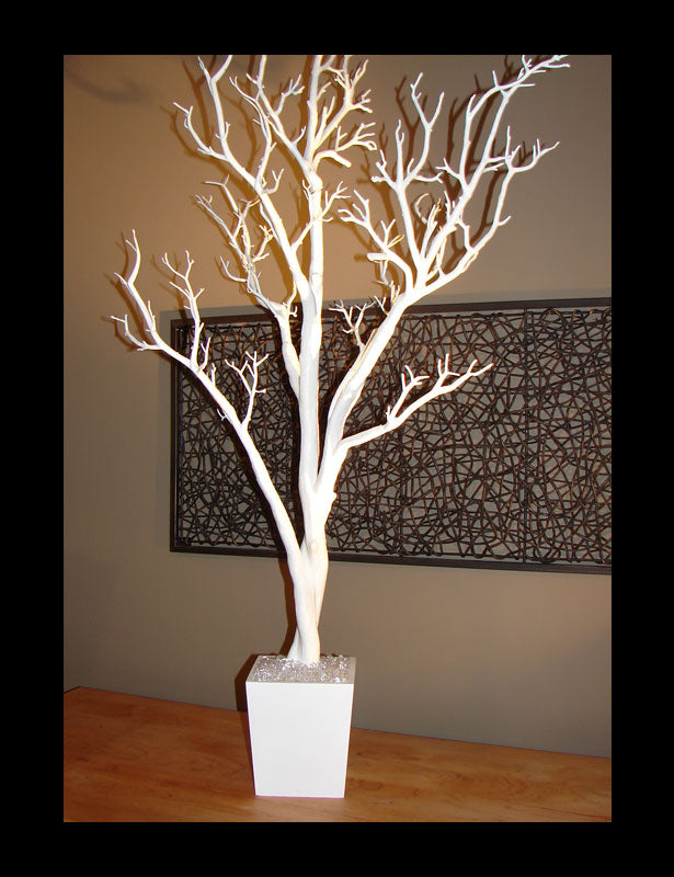 Our fake trees have a soft pliable coating that makes it easy to bend the branches.