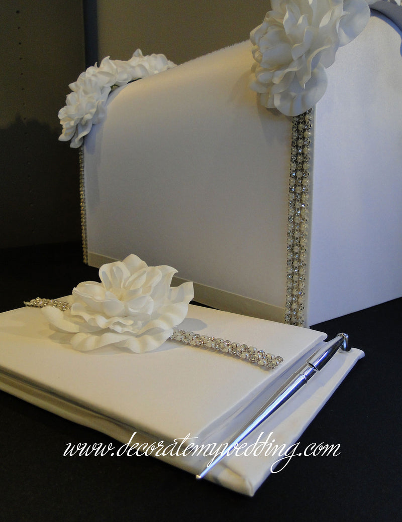 Card box and guest book are sold in a set.