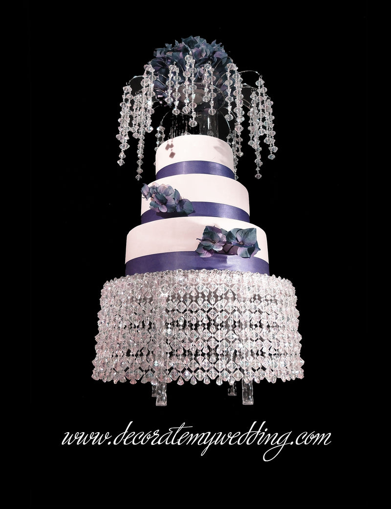 Cake Stand & Matching Cake Topper LEAH Gemstones 14""