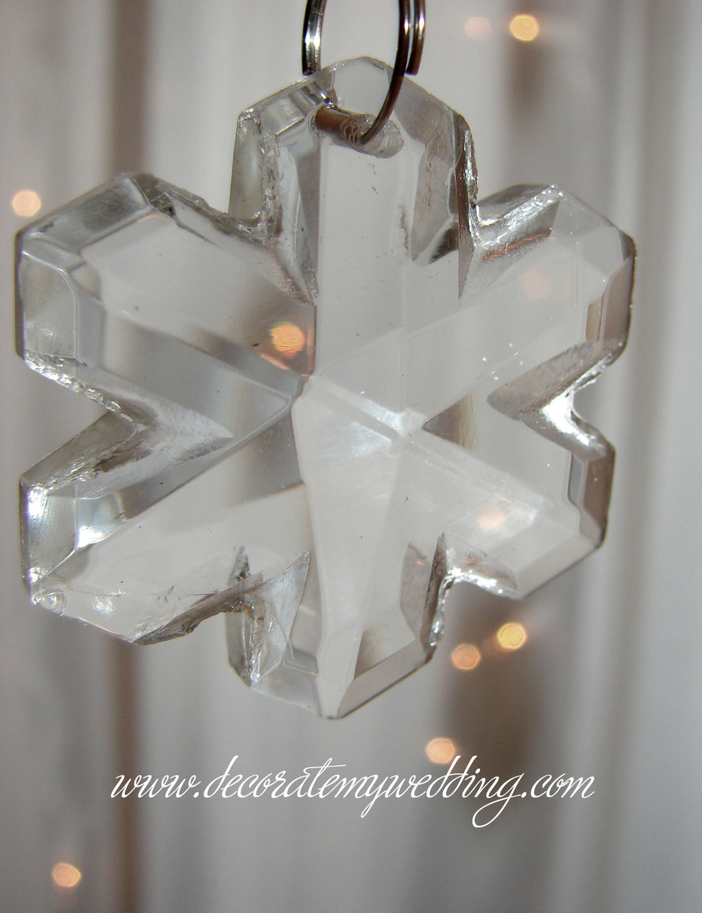 Beads Glass Snowflake (PKG OF 24) CLEARANCE