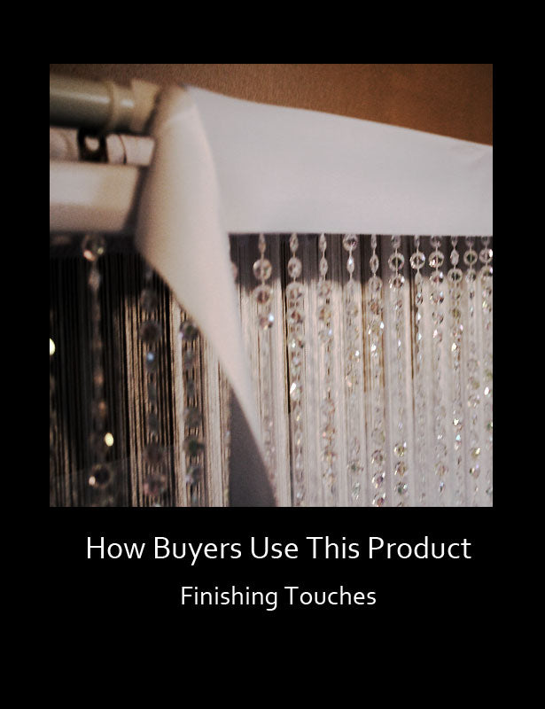 Use a fabric panel to cover the plastic rod create an elegant finishing touch.