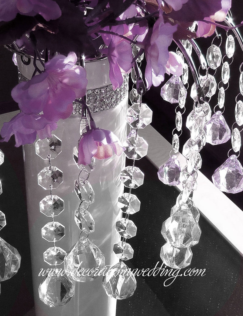 Hanging Beads Decoration Luxurious Centerpiece Decorate My Wedding