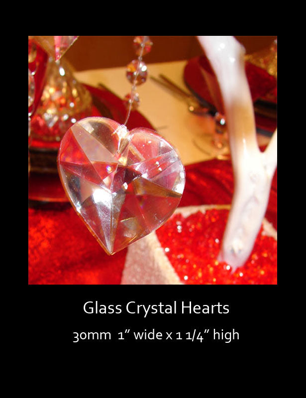 Beads Glass Heart CLEARANCE