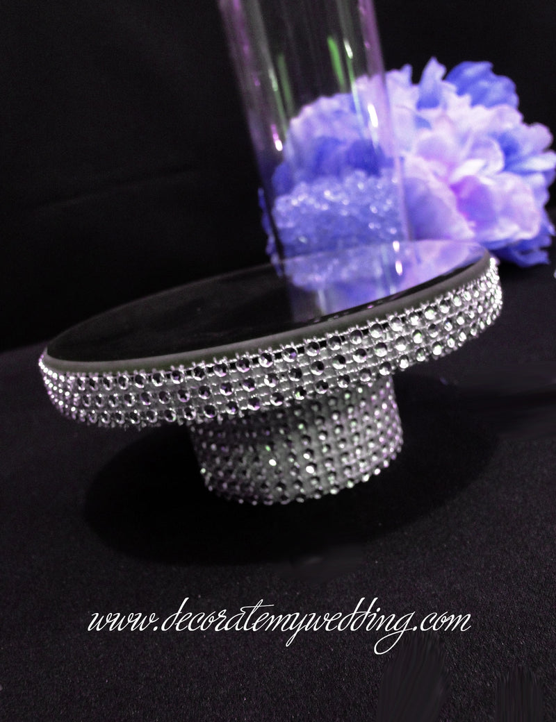 DEBBIE Rhinestone Bling - Cylinder Insert For Your Wedding Centerpieces