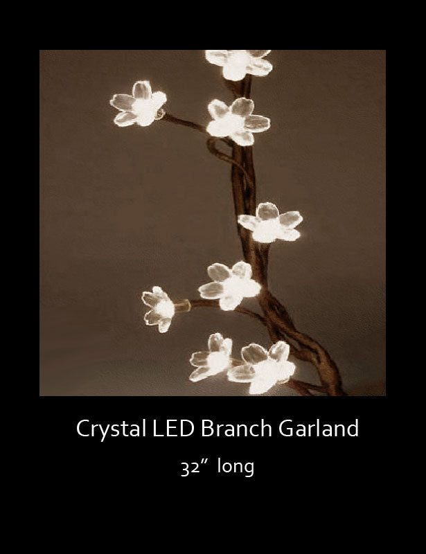 The branch-like garland is flexible and can be easily wrapped around most objects.