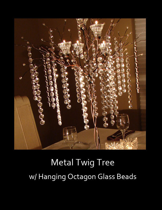 HOW TO USE – Add hanging octagon crystal beads.