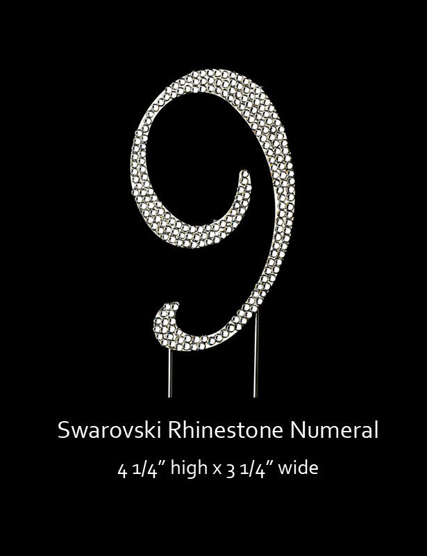 Silver-plated Numeral 9