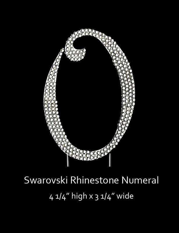 Silver-plated Numeral 0