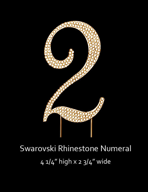 Gold-plated Numeral 2