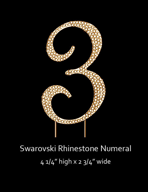 Gold-plated Numeral 3