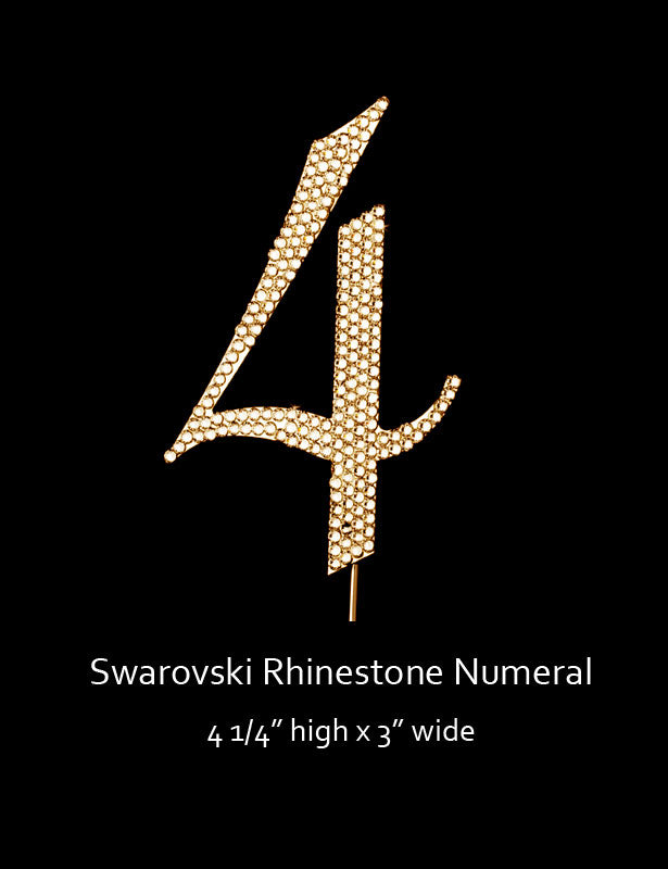 Gold-plated Numeral 4