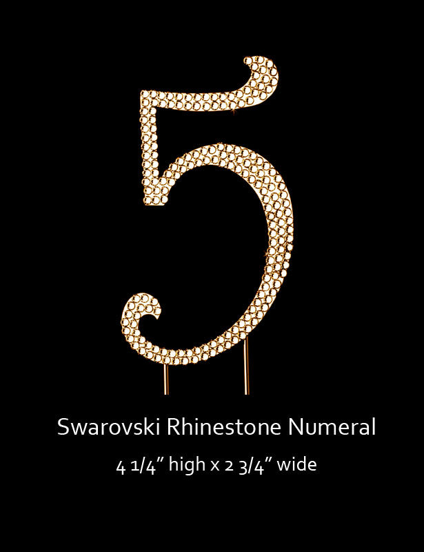 Gold-plated Numeral 5