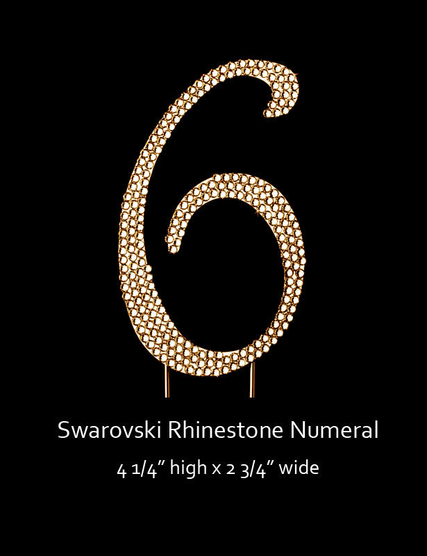 Gold-plated Numeral 6