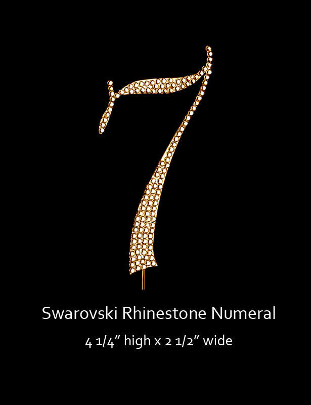 Gold-plated Numeral 7