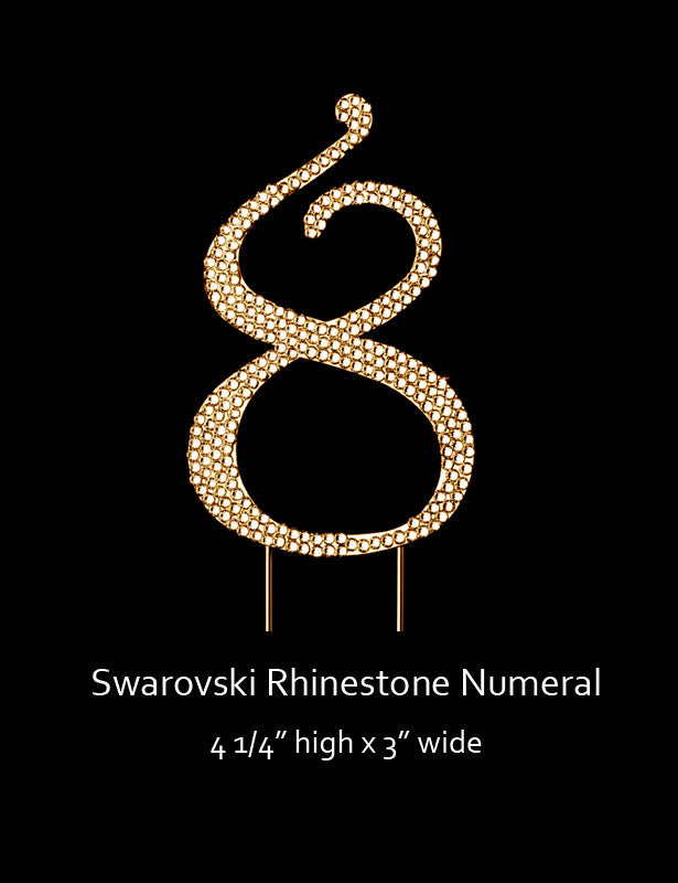 Gold-plated Numeral 8