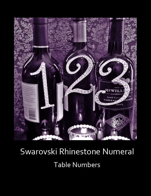 HOW TO USE – Table Numbers on Wine Bottles