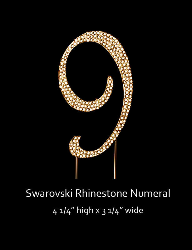 Gold-plated Numeral 9