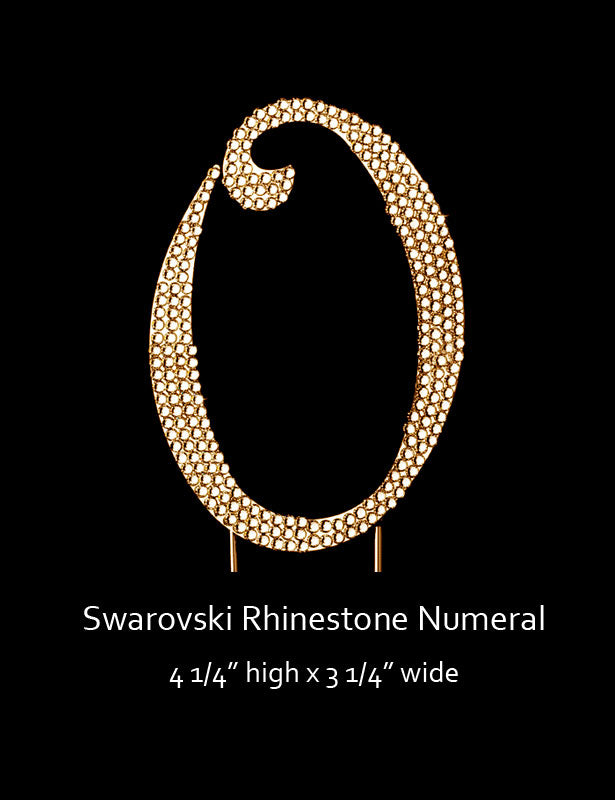 Gold-plated Numeral 0