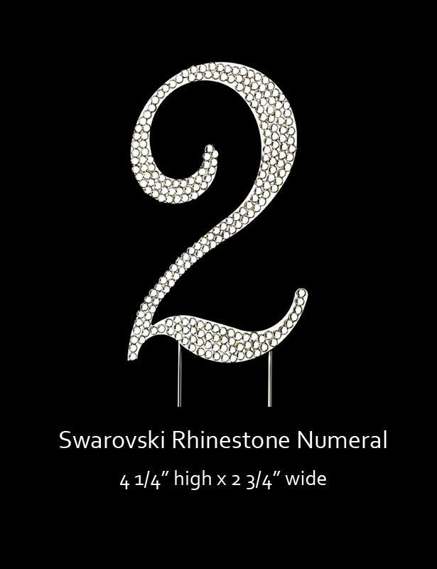 Silver-plated Numeral 2