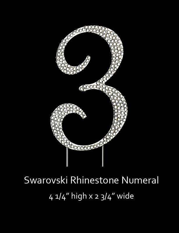 Silver-plated Numeral 3