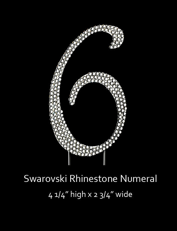 Silver-plated Numeral 6