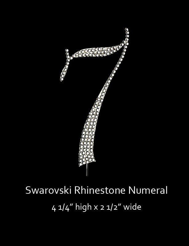 Silver-plated Numeral 7