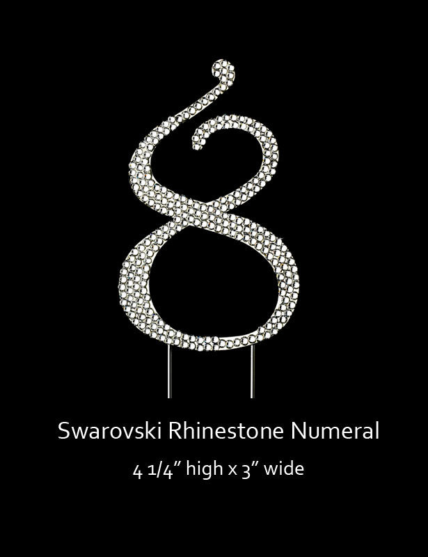 Silver-plated Numeral 8