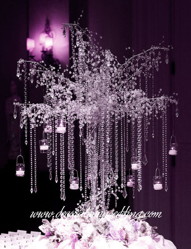 How buyers use the glass bead strands - wedding trees.