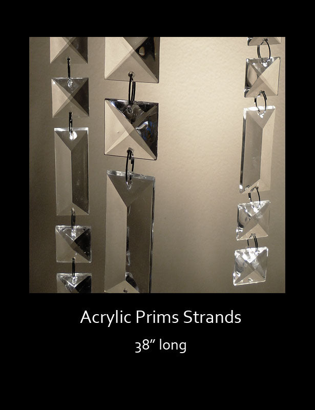 The prism strands are made with both square and rectangular-shaped prism beads.