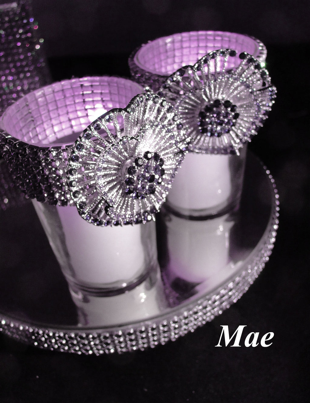 Purple Votive Holders (sold individually)