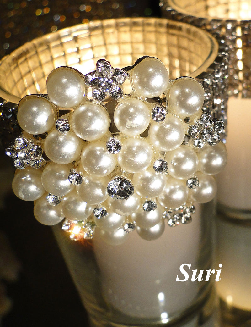CANDLE BROOCH VOTIVE HOLDER Pearl SOLD OUT