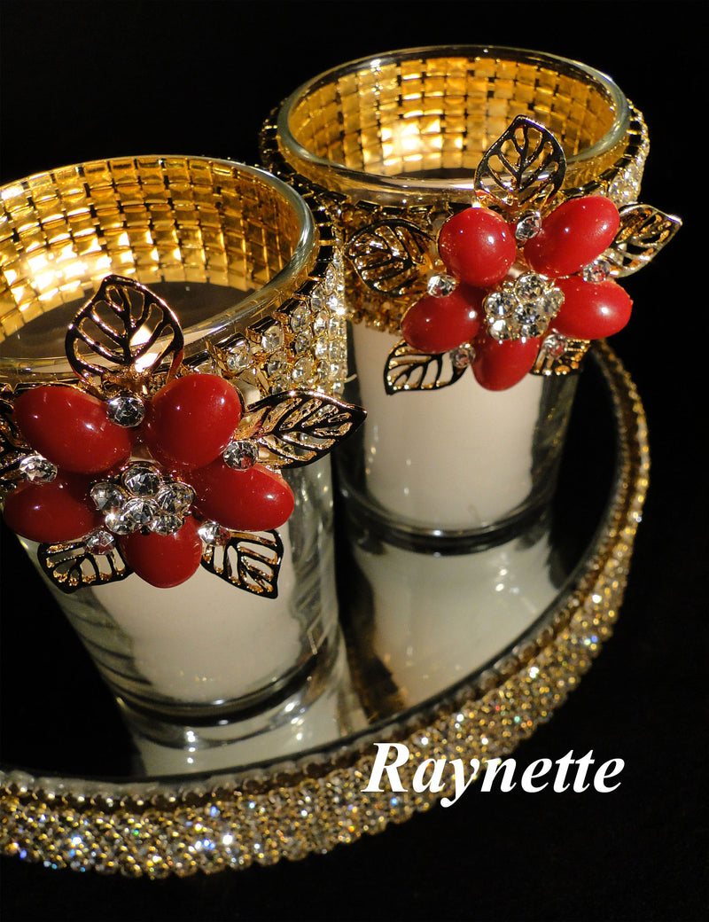 Red Votive Holders (sold individually)