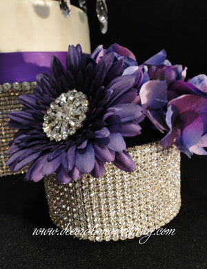 Mini Rhinestone Centerpiece Container