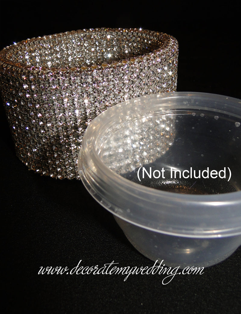 Plastic insert can be used for fresh flowers.
