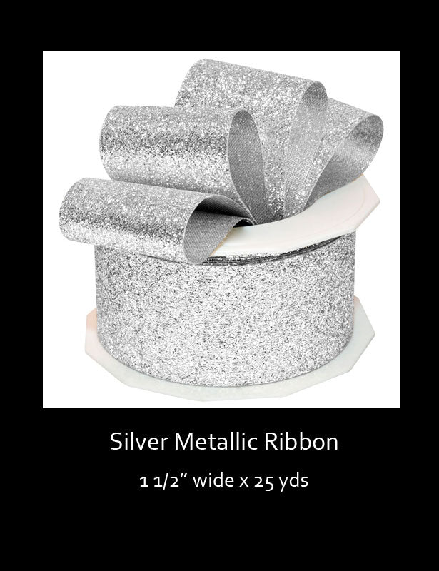 This metallic ribbon is a great accent to your wedding decorations.