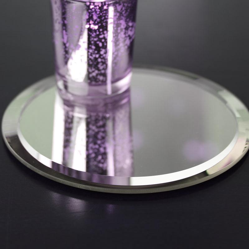 "Beverage Coasters Mirrored 4"" dia  (sold individually)"