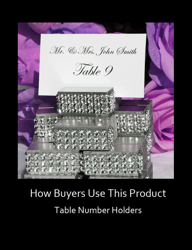 How Buyers Use This Product - Table Number Holders