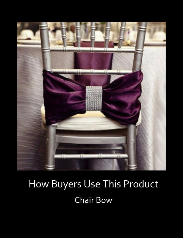 How Buyers Use This Product – Chair Bows