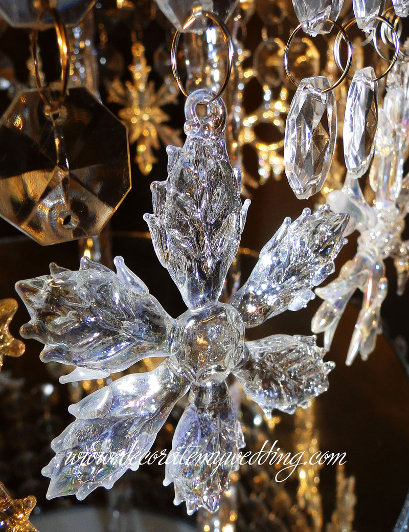 Crystal snowflake enlargement.
