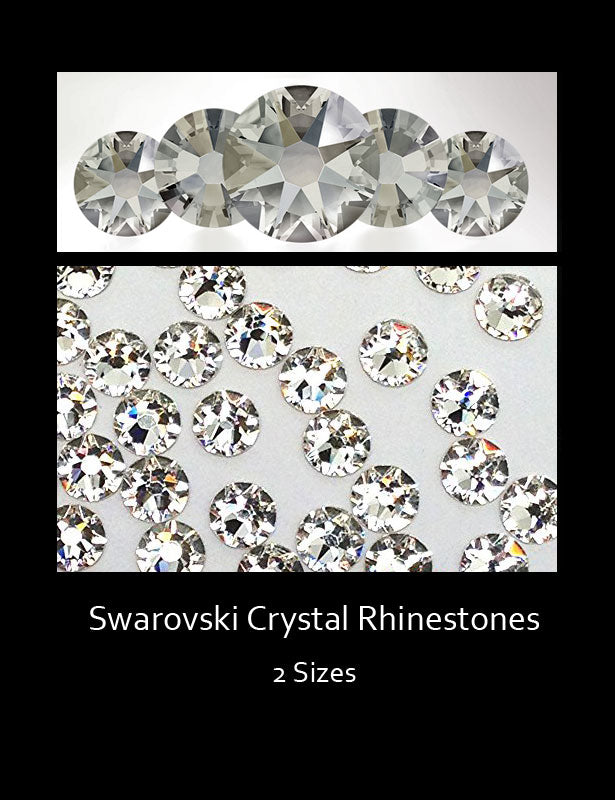 These gorgeous Swarovski rhinestones are crystal clear with stunning faceted cuttings.