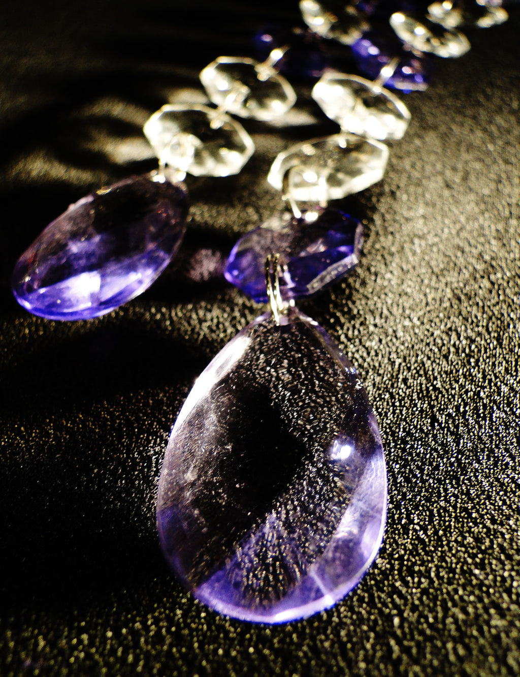 9 IN TEARDROP Pendant w/ Spiral Hook ACRYLIC PURPLE BUY ONE GET ONE FREE SOLD OUT