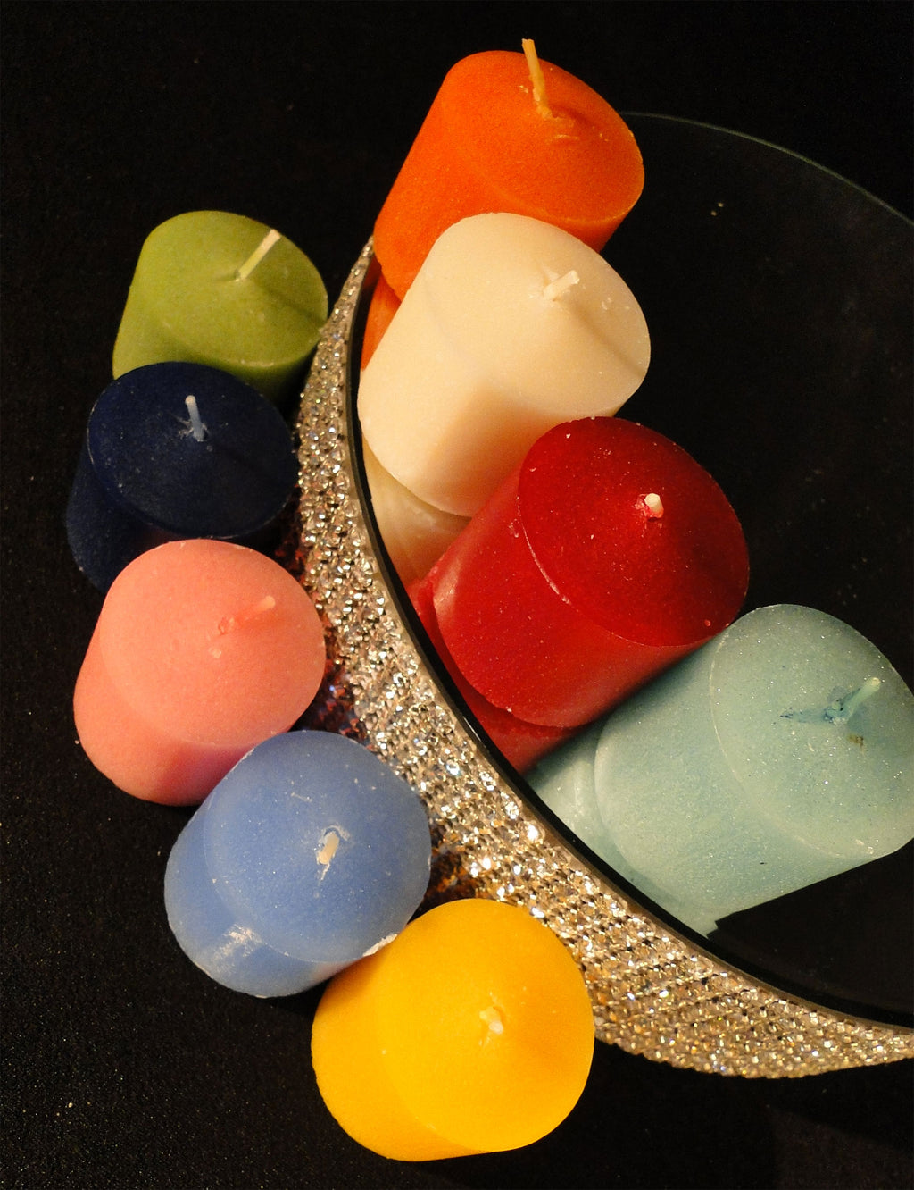 Votive Candles - Box of 12 - Many Colors